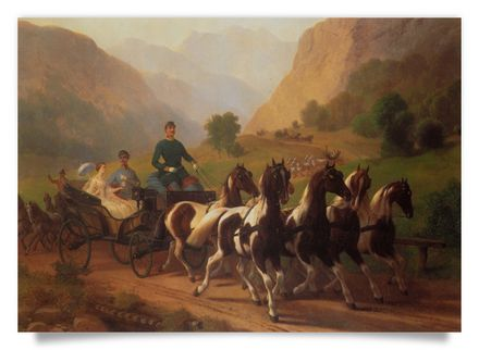 Excursion of Emperor Franz Joseph I. with Princess Elisabeth near Bad Ischl