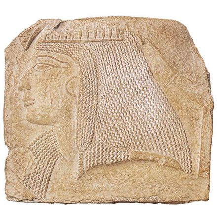 Relief Fragment with Head of a Lady