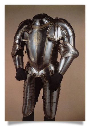 """Half armour from the """"Cleve"""" garnitur made for Emperor Charles V. """