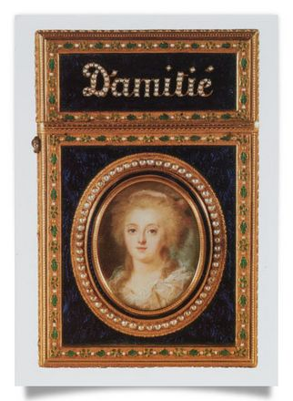 Carnet de bal with miniature of Marie Antoinette