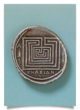 Silver Stater with Labyrinth