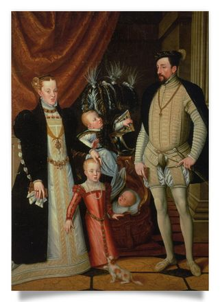 Emperor Maximilian II and family