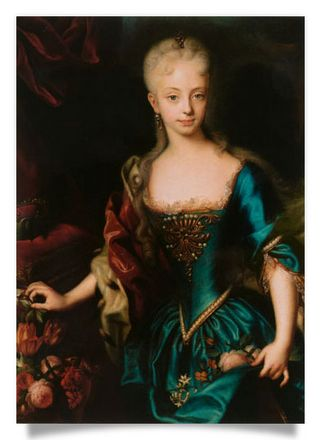 Portrait of the young Empress Maria Theresia