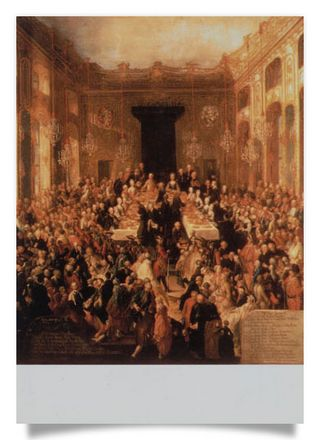 Banquet on the occasion of the marriage of Archduchess Marie Christine