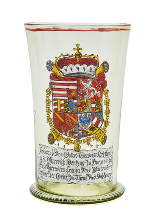 Glass Coat of Arms Ferdinand II