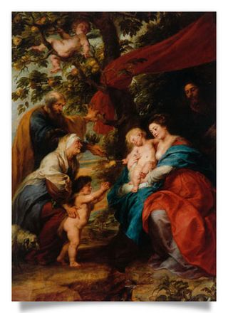 The Holy Family beneath an Apple Tree