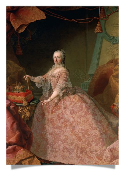Empress Maria Theresia in a pink lace dress