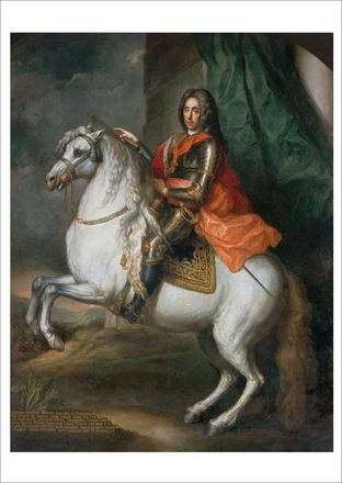 Prince Eugene of Savoy on a horse