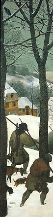 Hunters in the snow (detail)