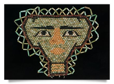 Bead-work face