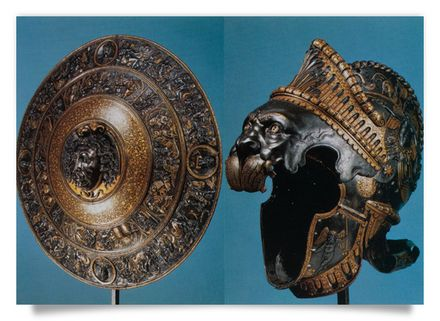 Morion of Emperor Charles V and Medusa shield