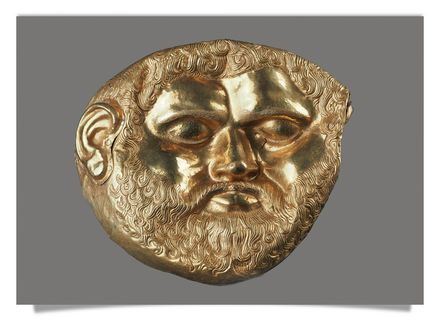 Golden mask from Svetitsa tumulus