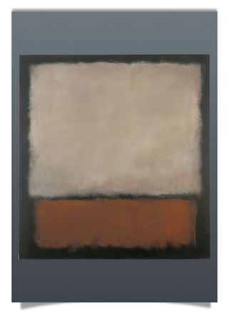 No. 7 (Dark Brown, Gray, Orange), 1963