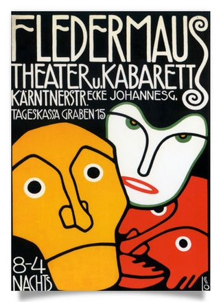 "Poster for the ""Cabaret Fledermaus"""
