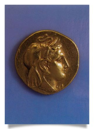 Gold Stater with juvenil head wearing an elephant's scalp