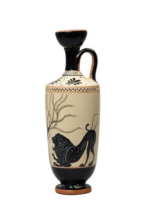 Lekythos: Lion and Panther