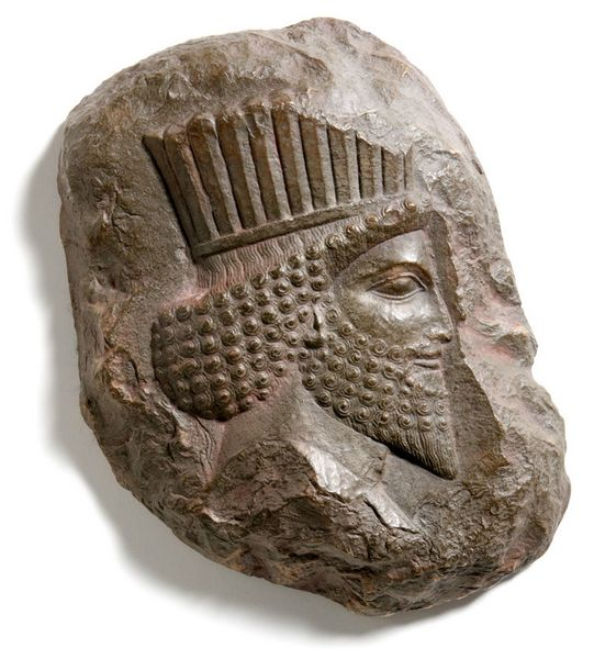 Relief Head of a Persian Nobleman