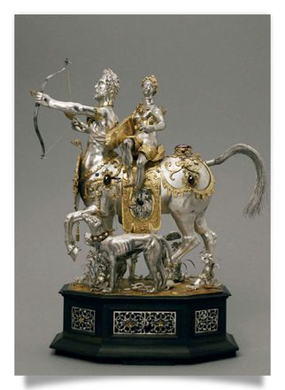 Clock with Diana on a Centaur