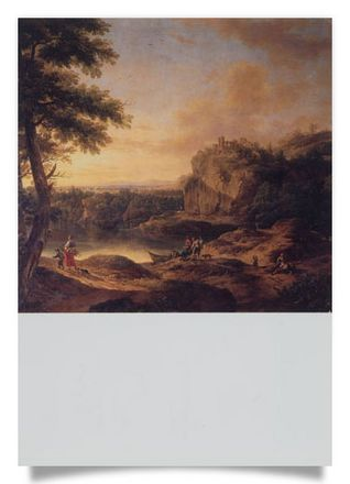 River Landscape with the Ruins of Habsburg Castle