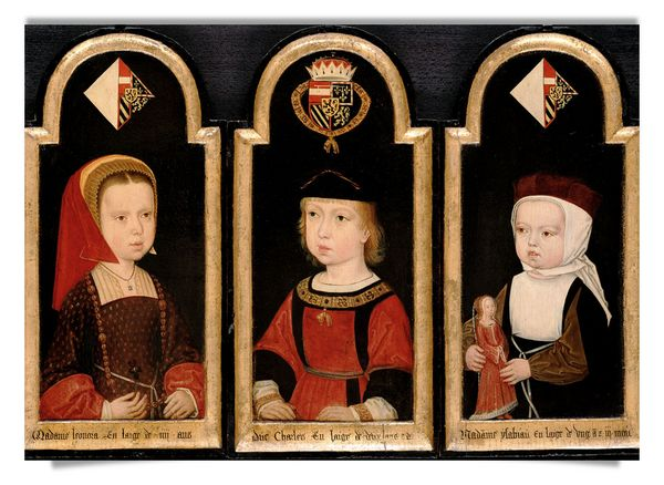 Emperor Charles V with his sisters Eleanor and Isabel