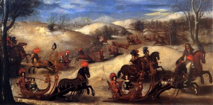 Sleigh ride with Princes and Princesses from the House of Habsburg and Lorraine