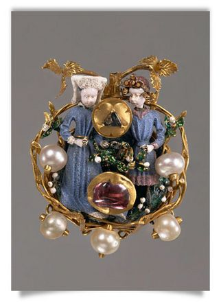 Brooch Couple of Lovers