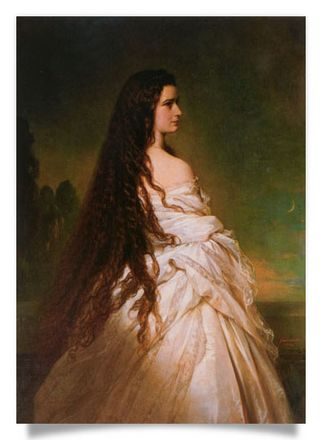 Empress Elizabeth of Austria with open hair