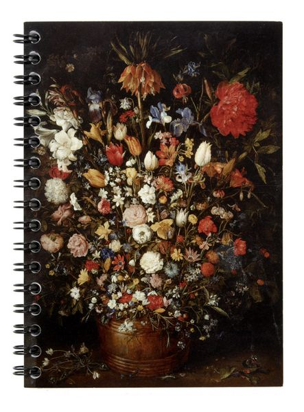 Brueghel - Flowers in a Wooden Vessel