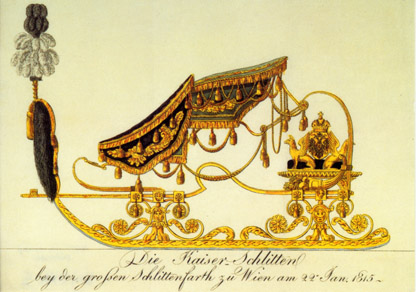 Carousel sleigh of the Vienesse Court