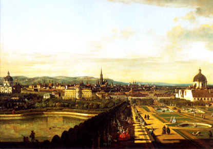 Vienna, viewed from the Belvedere Palace