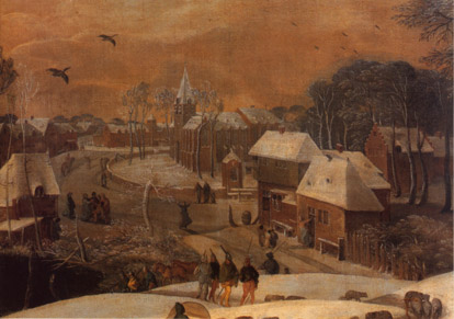 Military expedition in winter - Detail