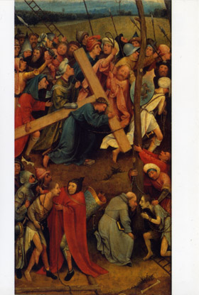 Christ carrying the Cross und Child playing with a toy windmill