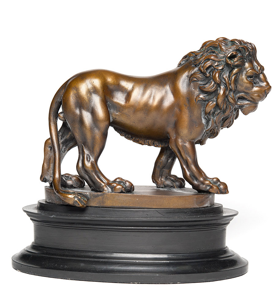 striding lion Animalier louis vidal ca 1868 large striding lion french bronze (barye) this is a 19th century louis vidal striding lion most probably finished.