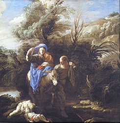 The flight into Egypt - Detail
