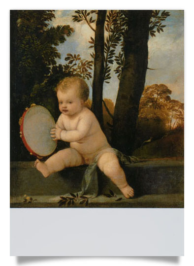 Small boy with tambourine