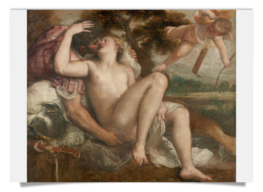 Titian Mars, Venus and Cupid