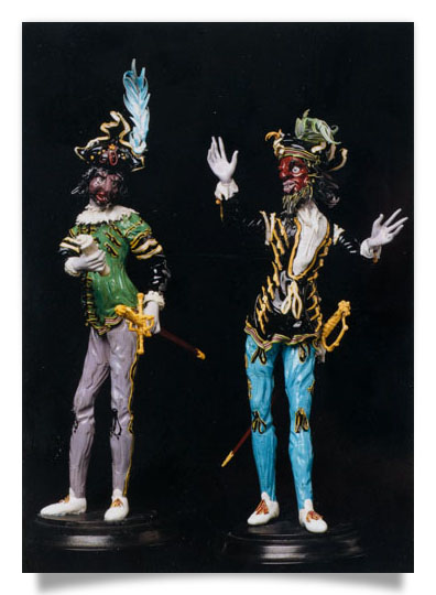 Figurines from the Commedia dell' arte