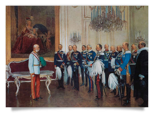 German Princes visiting the Emperor Franz Joseph