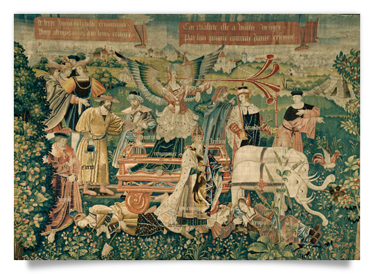 Tapestry: The Triumph of Fame over Death
