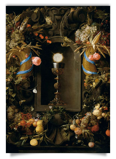 Chalice and Host Encircled by Garlands of Fruit