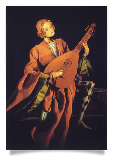 The artist with his lute