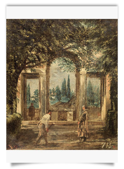 Velázquez - View of the Gardens of the Villa Medici in Rom